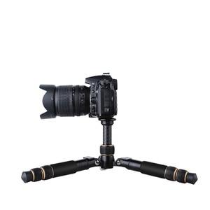 Image 5 - كاميرا فيديو احترافية صغيرة QZSD Q166C من ألياف الكربون ترايبود قابلة للتمديد للسفر مع رأس كروية ولوحة إطلاق سريعة