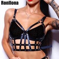 Leather Harness Bdsm Chest Bondage Intimo Pastel Goth Body Bondage Straps Punk Rave Women's Sexy Lingerie Adjustable Harness Top