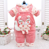 Autumn Winter Baby Girls Clothing Sets Infants Fox Bib Coats 2pcs Clothes Sets Cotton Suit Toddler Thickening Warm Costume