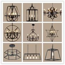 American Pendant Lights Retro Decor Lighting Nordic Loft pendant lamp Living Room Bedroom Wrought Iron Lamp Body Hanging Lamp стоимость