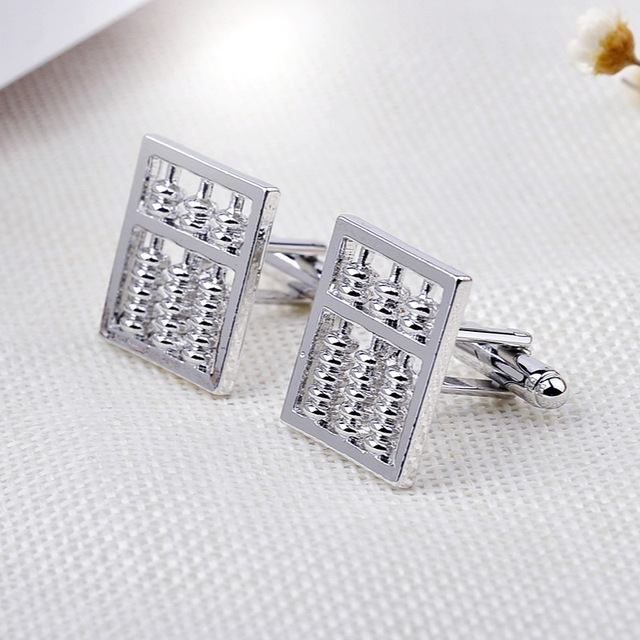 Fashion Silver Abacus Wedding Cufflinks for Men