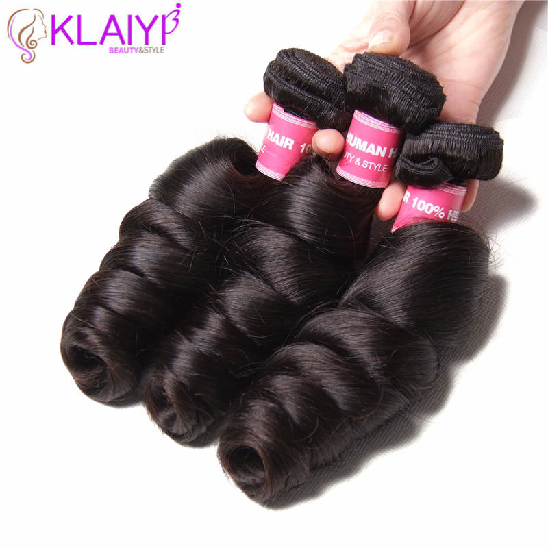 Klaiyi Hair Brazilian Loose Wave 100 Human Hair Weave Bundles Remy Hair Extensions 16 To 26
