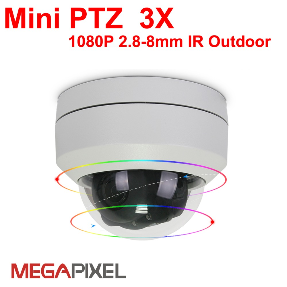 Megapixel cctv video surveillance security font b outdoor b font ip camera mini ptz auto focus
