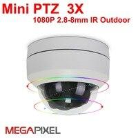Megapixel cctv video surveillance security outdoor ip camera mini ptz auto focus 2.8 8mm Support hikvision dahua DVR NVR