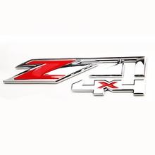 цена на Z71 4x4 Emblem Decal Car Sticker Badge New Red Chrome for Chevrolet Silverado GMC Sierra Tahoe Truck