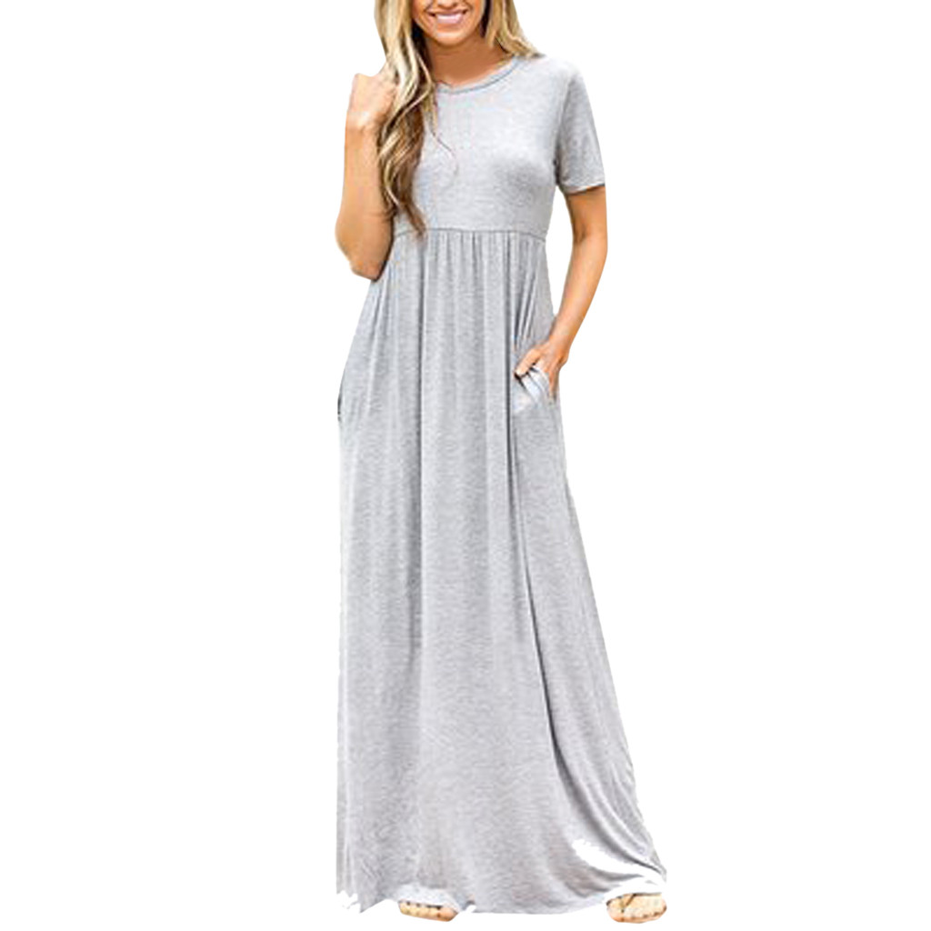 Plus Size long dress elegant summer dresses women 2019 evening dresses for women summer dresses casual Loose Oversized Mar