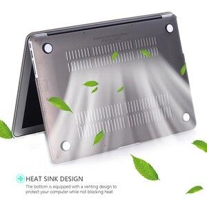 Image 3 - Funda de portátil para Macbook Air 13, Protector de pantalla transparente mate para Apple Macbook Air Pro Retina 11 12 13 15 +