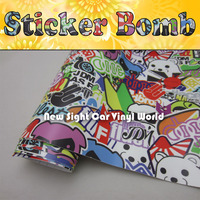Awesome Style! JDM Sticker Bomb Vinyl For Car Decals With Air Bubble Free Size:1.50*30m/Roll