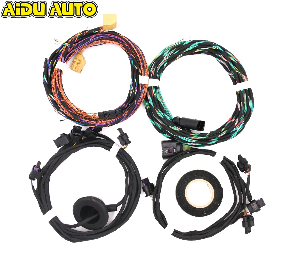 PARKING FRONT AND REAR 8K PDC OPS INSTALL HARNESS CABLE WIRE KIT FOR VW PASSAT B7 CC TIGUAN 5N parking front and rear 8k pdc ops harness cable wire kit for vw golf 5 6 passat b6 touran jetta mk5 mk6 skoda octavia polo