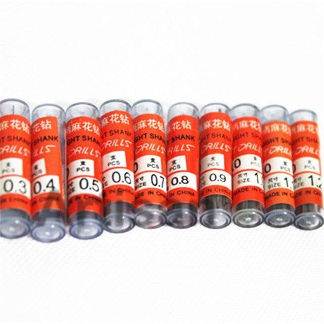 Karışık 100 adet/grup 0.3mm ila 1.2mm Mikro HSS Büküm Matkap Ucu HSS Ağaç İşleme Sondaj Aracı Büküm matkap uçları delik Delme