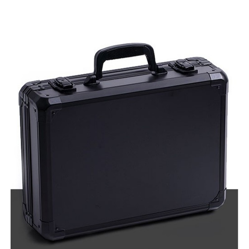 Aluminum Alloy Toolbox Instrument Box Suitcase Impact Resistant Safety Case Equipment Camera Case With Pre-cut Foam Clapboard