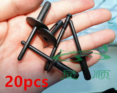20x 6mm Plastic Trim Clips Bumpers Grille Wing Liner Splashguars Arch for Subaru