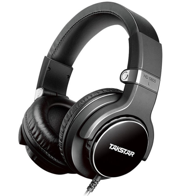 Takstar HD 5800 Stereo Monitor Headphone 50mm Driver Diameter with Control Button Microphone convenient carry