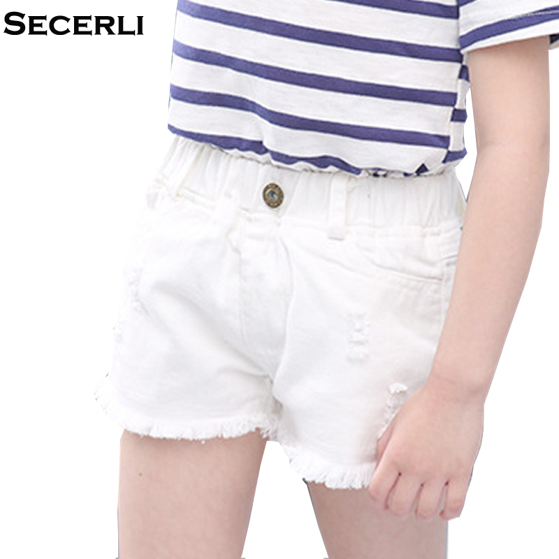 Kids Girls Jeans Shorts 2 to 15Years Children Jeans Denim Trousers 6 8 10 12 15Years Gir ...