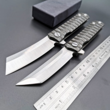 Ball Bearing Tanto Razor Folding Knife D2 Blade Tactical Pocket Knives Outdoor Camping Survival Diving Knives Hunting EDC Tool 200mm 100% d2 blade ball bearing knives g10 handle folding knife survival camping tool hunting pocket knife tactical edc outdoor