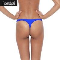 Sexy Thong Swimsuit Bottom Women Micro Bikini Bottoms G Strings Thongs Swimming Trunks Women S T