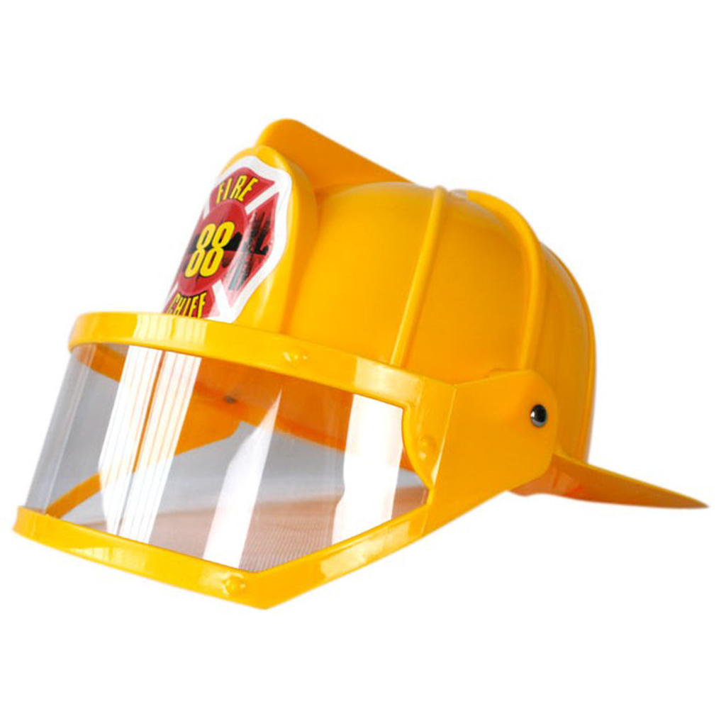 Kids Fireman Helmet Firefighter Hats Fancy Dress Accessories Kids Halloween Party Role Play Toys Yellow
