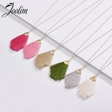 Joolim Jewelry Wholesale/Red Green White Tassel Pendant Necklace Bohemian Jewelry For Women joolim high quality long simulated pearl tassel maxi necklace multi layered necklace statement jewelry wholesale