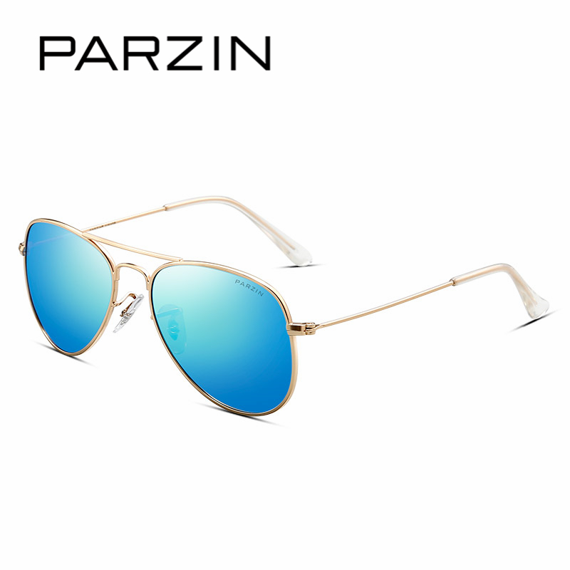 PARZIN Brand Children's Pilot Polarized Sunglasses For Boys Quality Classic Ultra-Light Aviator Glasses Kids Accessories 8066 parzin brand quality children sunglasses girls round real hd polarized sunglasses boys glasses anti uv400 summer eyewear d2005