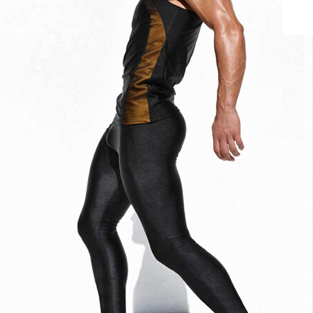 940b469c77cba Yehan Sexy Men Tights Pants Elastic Skinny Pants Low Rise Men Joggers  Spandex Tight and Legging