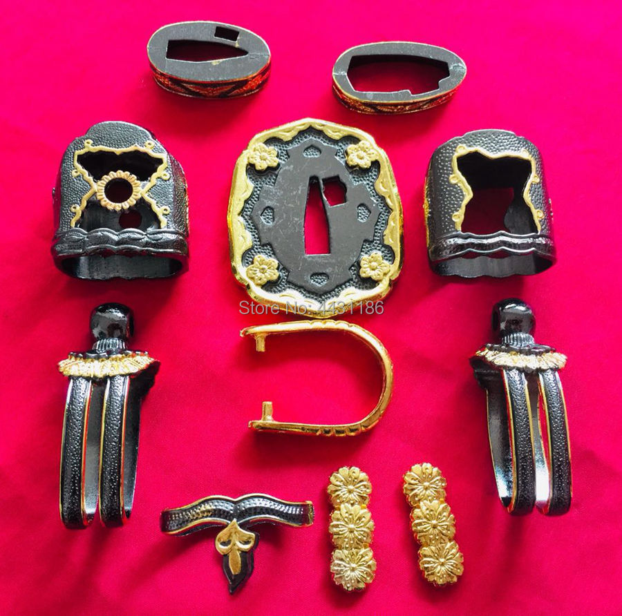 Collectable Set of Japanese Military Katana Sword Brass Fitting