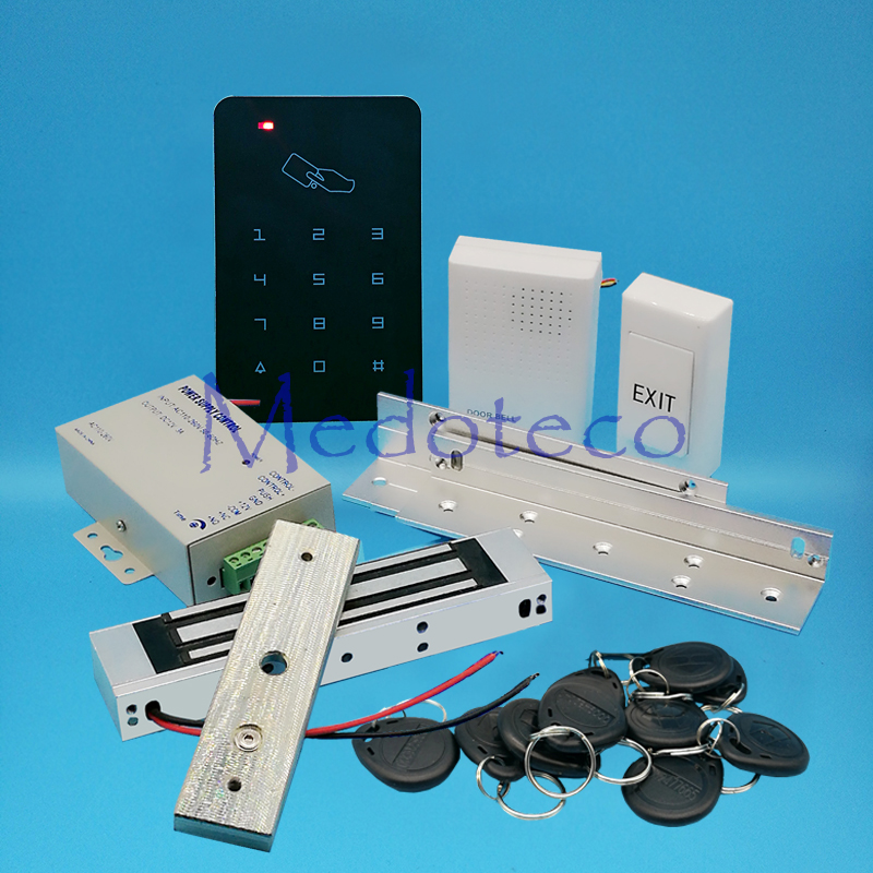 Complete 125khz Rfid Card Door Access Control System Kit EM Card Access Controller +350lbs Electric Magnetic Lock + ZL Bracket