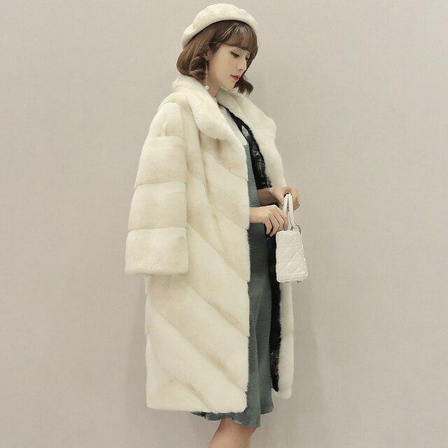 78b8fb3e78a US $6208.0  Luxe minkbontjas vrouwen winter natuurlijke nertsen marter bont  jas high end kwaliteit bontjas vrouwelijke elegante Nieuwe Phoenix 0917 M  ...