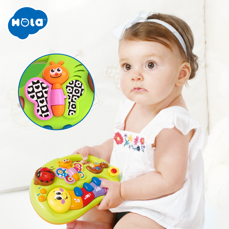 HOLA 808 + 927 Toddler Toy Piano Keyboard Educational Infant Toy Activity Center, Music And Lights, Animal Sounds Kids Gifts
