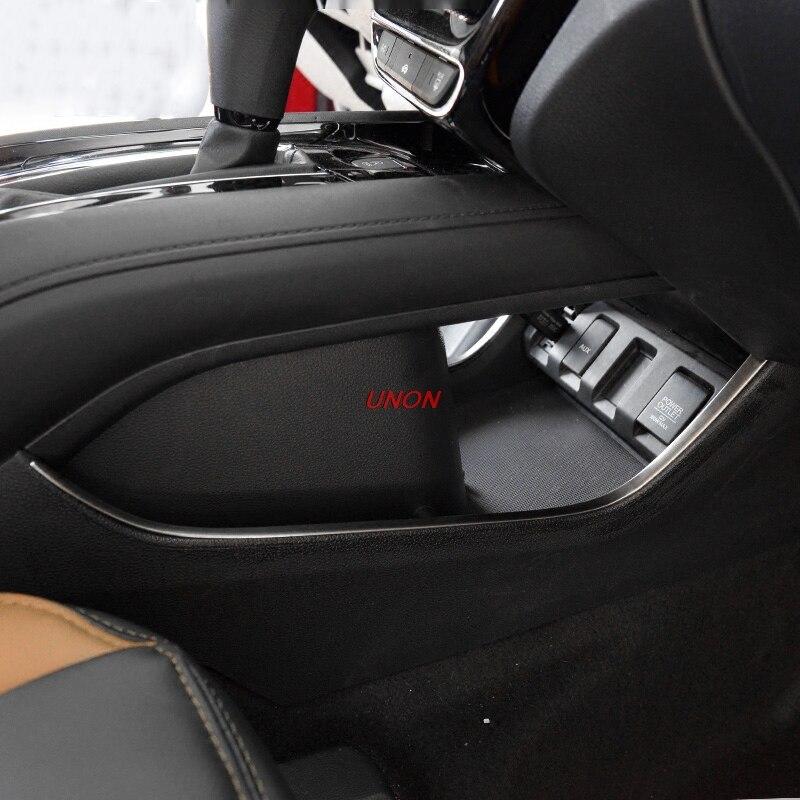 Stainless Steel Decoration Trims Under Gear Shift Box For Honda HRV HR-V 2015 2016 2017 2018 Interior Car Styling