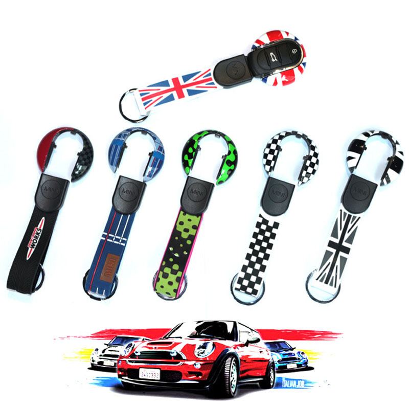Union Jack Auto Smart Key Case Cover Shell Protector For Mini Cooper JCW F54 F55 F56 F57 F60 Countryman Car Styling Accessories