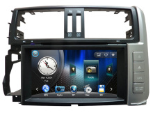 8 inch Car DVD GPS Navigation for Toyota Prado 2010~2013 Lexus GX 460 Support Car DVR 1080P TV in Champagne color