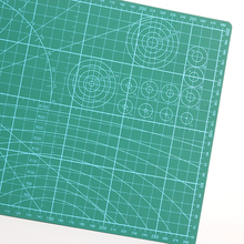 PVC Cutting Mat A4 Durable Self-Healing Cut Pad Patchwork Tools Handmade Diy Accessory Cutting Plate Craft Dark Green 30*22cm