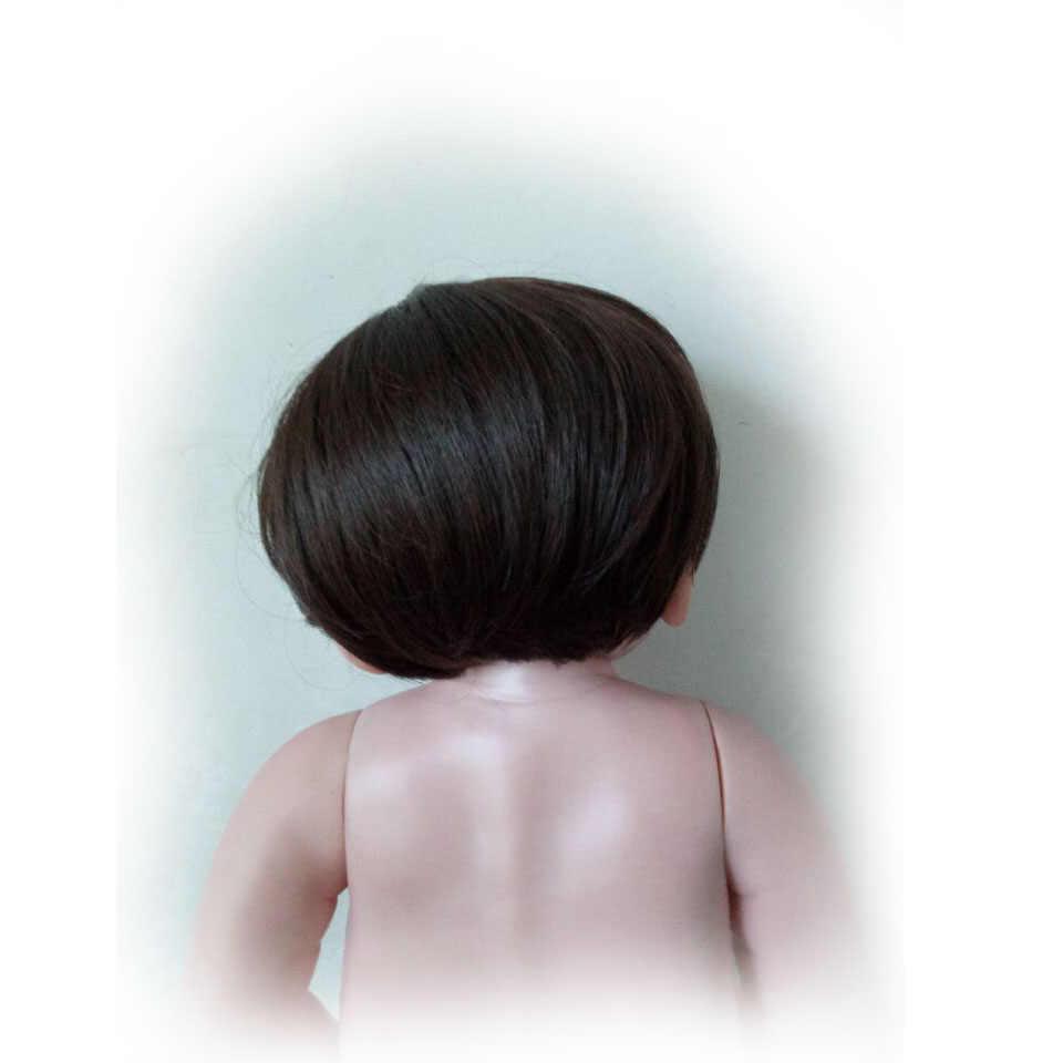 С коричневыми или Золотая Кукла Парики Для Гавайская гитара 23 дюймов перерожденные куклы младенцы, высокая Температура провода похожая на настоящую волосы девушка и кукла-мальчик аксессуары