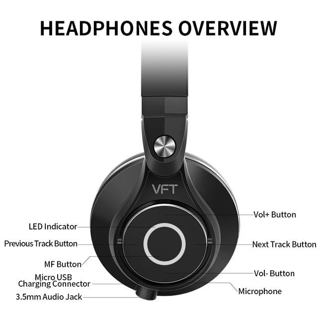 Bluedio UFO PLUS High-End Wireless Bluetooth headphones