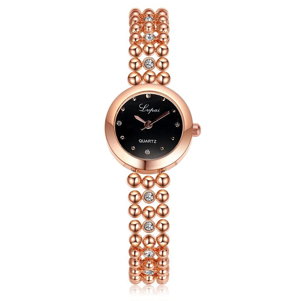 Women Watch Top Brand Fashion Quartz Armbandsur för kvinnor Damklänning Alloy Watch Klocka Rose-guld Silver relogio feminino