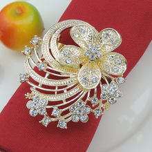 10PCS alloy cherry napkin ring mat towel circle home model room decoration gold silver