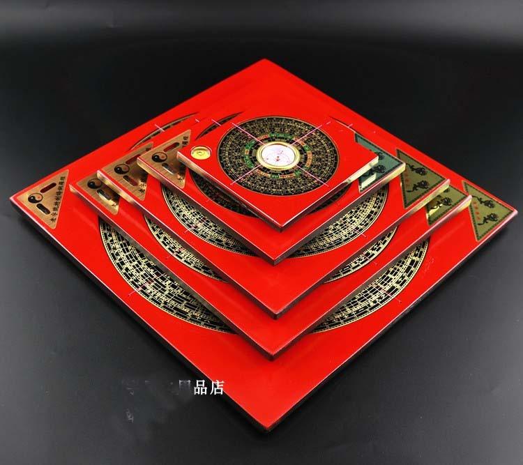 Un ensemble 5 pièces Géomantique outil maître-Asie du sud-est de BUREAU À LA MAISON efficace Huit Diagrammes FENG SHUI poche grande boussole LUO CASSEROLE
