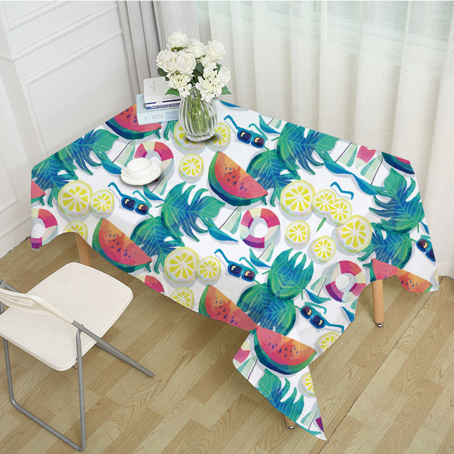 Superieur RUBIHOME Square Tablecloth Watermelon For A Cool Summer Fruit Meal Design  Table Cover Home Party Decorative