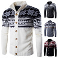 Cardigan Sweater New Winter Plus Size Mens Sweaters Long Sleeve Jacket Casual Knitted Sweater Male Christmas Coat Knitwear