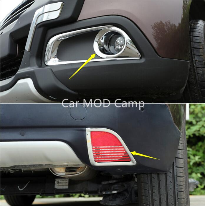 For Peugeot 2008 2014 2015 2016 2017 ABS Chrome Front Rear Fog Light Fog Lamp Cover Trims Car Styling Accessories! high profile rear fog lamp fog light fog lights chrome cover sticker for chevrolet chevy malibu 2012 2013 2014 2015 accessories