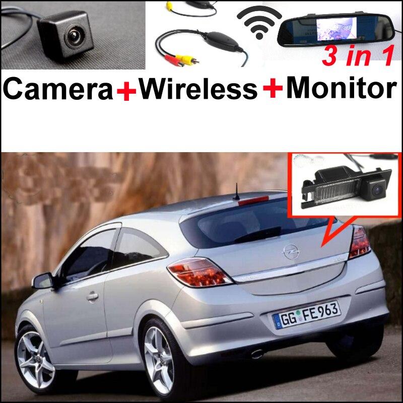 3in1 Special WiFi Camera + Wireless Receiver + Mirror Monitor Parking System For Opel Astra Corsa Meriva Tigra Vectra Zafira