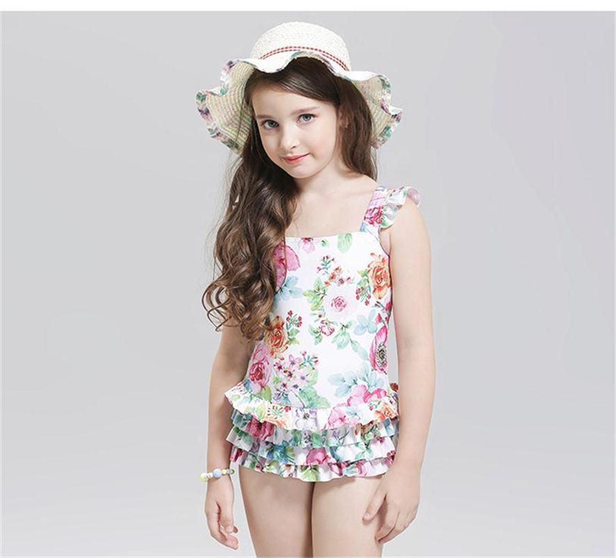 2017 New Children Swimming Cute baby girl swimwear one piece Kids girls swimsuit kid/children swimming Suit One Piece Swim Wear