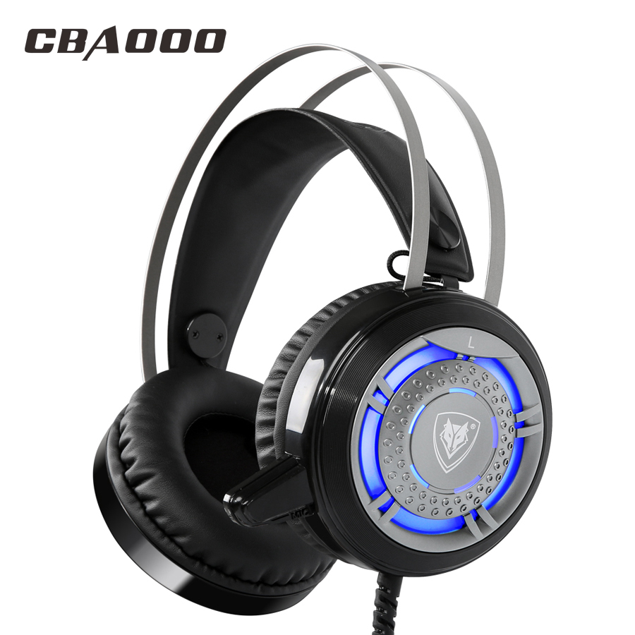 K11 Pro Game Gaming Headset LED Stereo PC Headphone Microphone Stereo Bass LED Light Luminous Earphone USB with 3.5MM for PC