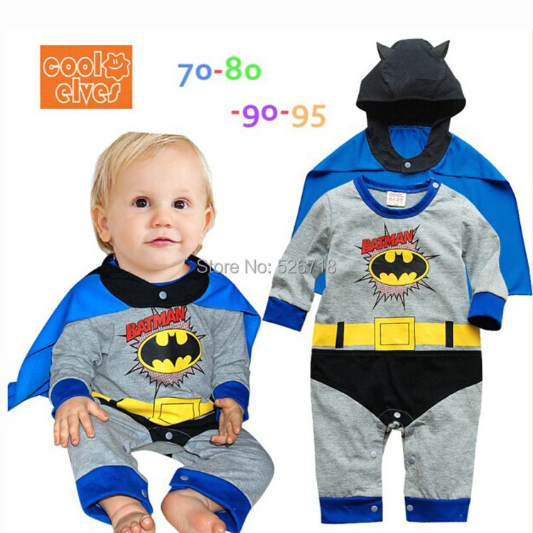 Mother & Kids ... Baby Clothing ... 32265469138 ... 2 ... Hot! 2019 New Fashion Cartoon Cotton Kids Boys Clothes Jumpsuit Batman Baby Boy Rompers Superman Baby Gilr Romper Baby Costume ...