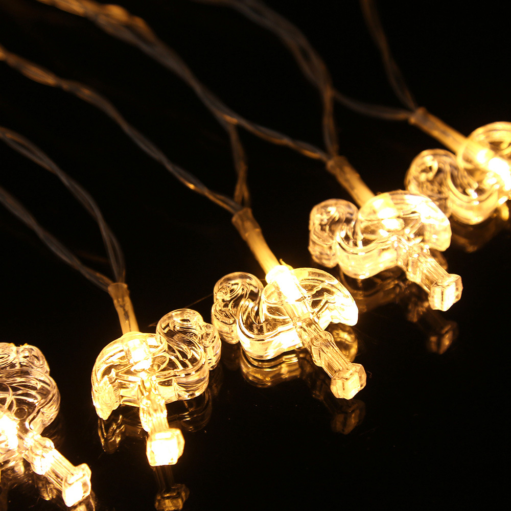 Flamingo LED Bulb Romantic String Light Battery Opetated Party Decor 2m 20Leds for Holiday/Party/New year Decoration P5