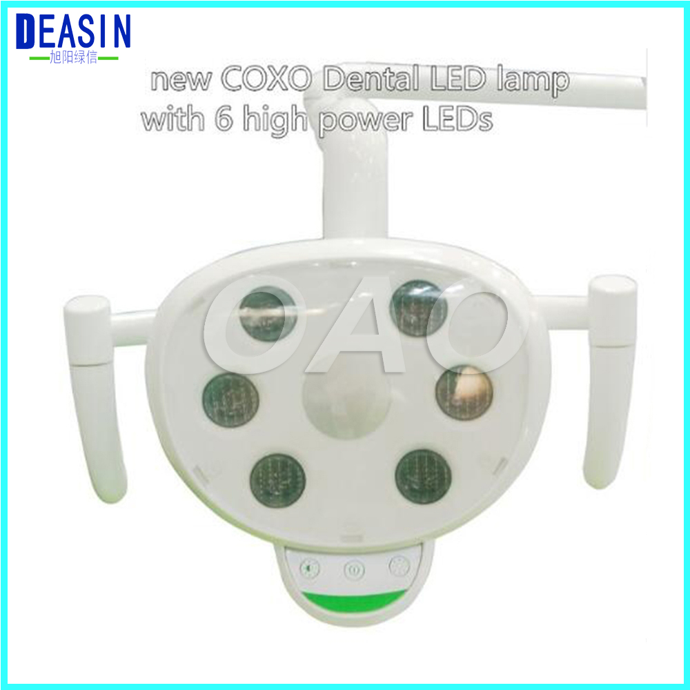 COXO Dental LED lamp Light with 6 high power LEDs Double contol system with sensor and switch