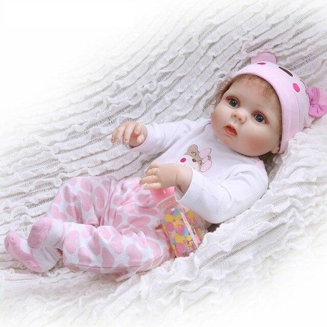 Brinquedos menina 55 centímetros Realistas de Silicone Renascer Bonecas princesa Boneca Reborn Vinil Boneca Para presente das crianças sobre 55 cm em comprimento