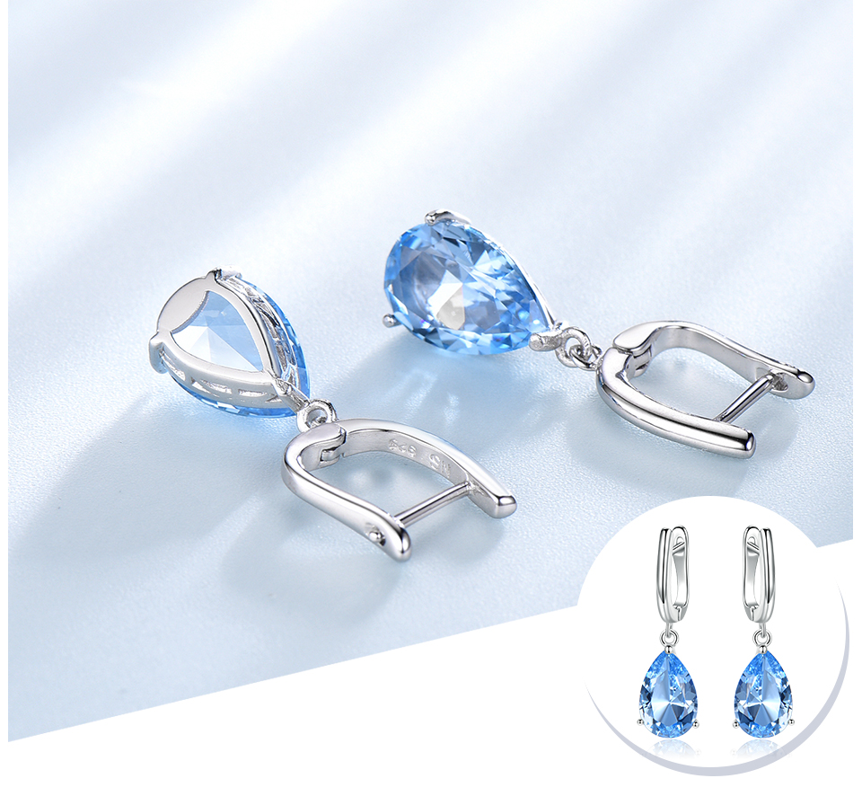 UMCHO  Nano Sky Blue Topaz 925 sterling silver earring for women EUJ095B-1-pc (4)