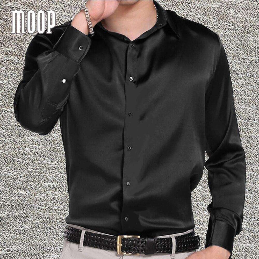 Noir violet marine hommes naturel soie chemises à manches longues chemise de travail pas cher chemise homm chemisette masculina vetement homme LT1512