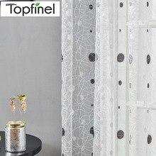 Topfinel новинки птичье гнездо современные элегантная вышитые занавески для кухни Тюль для окна Чистый тюль для гостинной спальни Жалюзи Портьеры